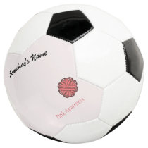 Pink Flower Ribbon Template Soccer Ball