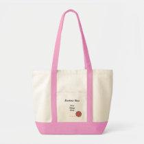 Pink Flower Ribbon Template Tote Bag