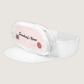 Pink Flower Ribbon Template Visor