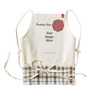 Pink Flower Ribbon Template Zazzle HEART Apron