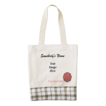 Pink Flower Ribbon Template Zazzle HEART Tote Bag