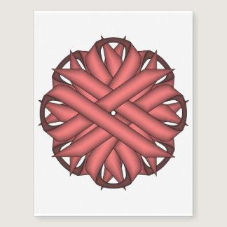 Pink Flower Ribbon Temporary Tattoos