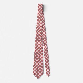 Pink Flower Ribbon Tie