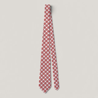 Pink Flower Ribbon Tie