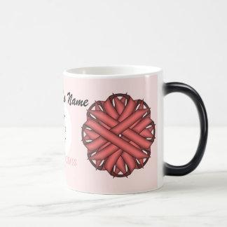 Pink Flower Ribbon Tmpl by Kenneth Yoncich Magic Mug