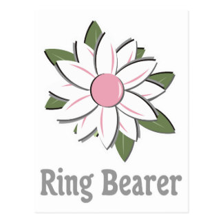 Pink Flower Ring Bearer Postcard