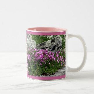 Pink Flower Rock Garden Mugs