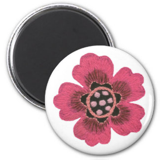Pink flower set magnet