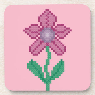 Pink Flower Set of Coasters