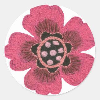 Pink flower set sticker