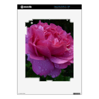 Pink Flower Decal For iPad 2