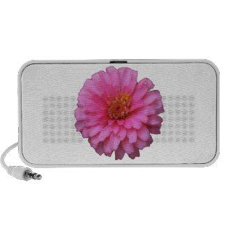 Pink Flower Speaker - White