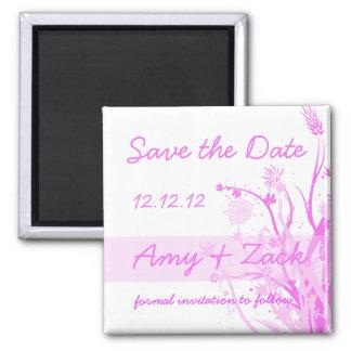 Pink Flower Splash Save the Date Magnet