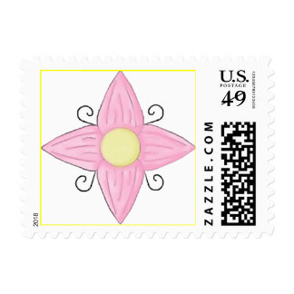 PINK FLOWER STAMPS
