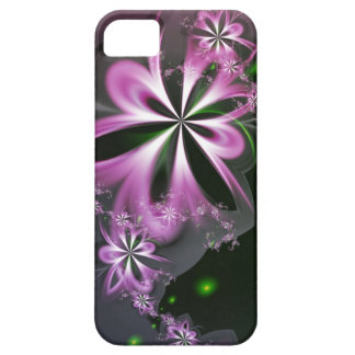 Pink Flower Swirls Abstract Fractal Elegant iPhone 5 Covers