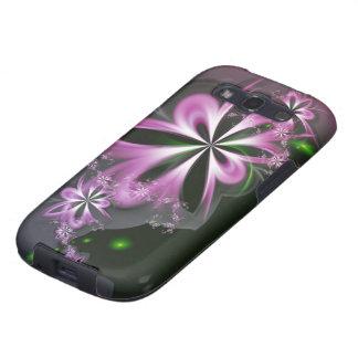 Pink Flower Swirls Abstract Fractal Elegant Galaxy S3 Case