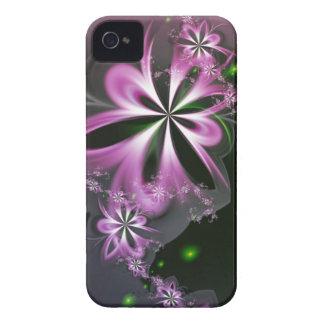 Pink Flower Swirls Abstract Fractal Elegant iPhone 4 Case-Mate Case