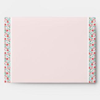 Pink Flower Trim Envelope