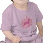 Pink Flower Vizsla Dog T-shirts
