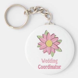 Pink Flower Wedding Coordinator Keychain
