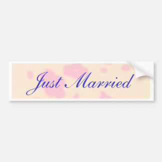 Pink flower Wedding Stationary Set customize Bumper Sticker