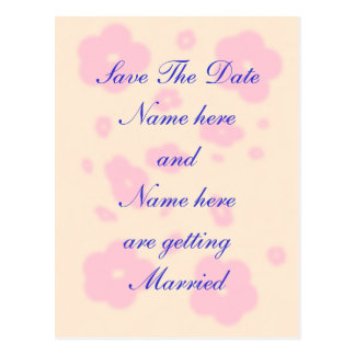 Pink flower Wedding Stationary Set customize Postcard