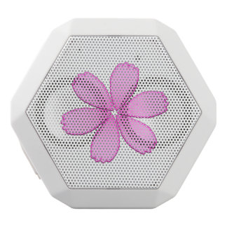 Pink Flower White Bluetooth Speaker