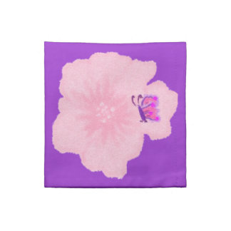 Pink Flower with Butterfly Cocktail Napkins