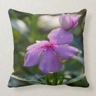 pink flower with dew drops pillow pillow