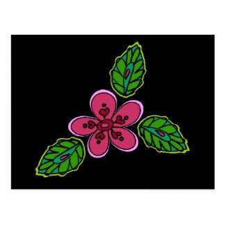 Pink Flower with Green Verdure Postcard