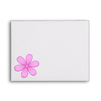 Pink Flower with Stitches Envelope