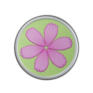 Pink Flower with Stitches Speaker