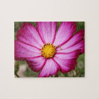 Pink Flower with Worm Puzzle