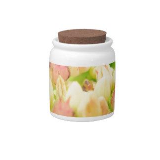 Pink Flowerbed Candy Jars