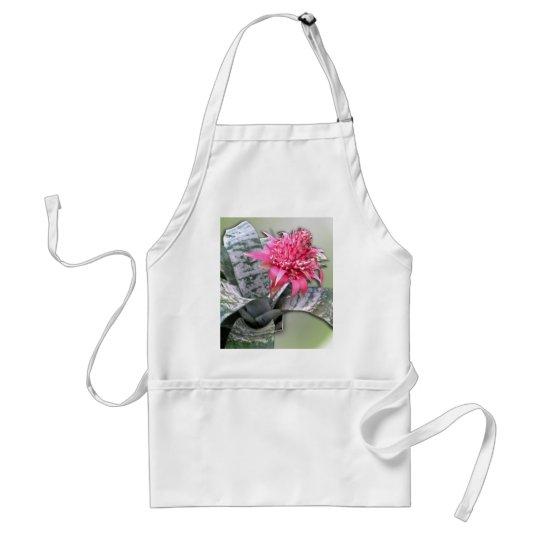 Pink Flowered Bromeliad Adult Apron