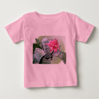 Pink Flowered Bromeliad Baby T-Shirt