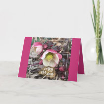 PINK FLOWERED MOTHER'S DAY GREETING CARD
