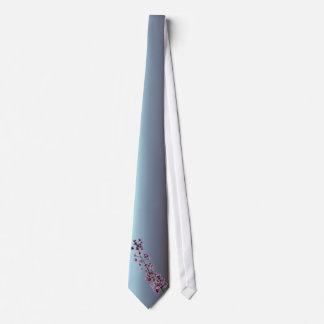 Pink Flowering Cherry Blossoms Neck Tie