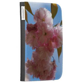 Pink Flowering Cherry Tree Kindle Folio Cases