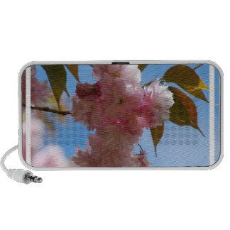 Pink Flowering Cherry Tree Notebook Speakers