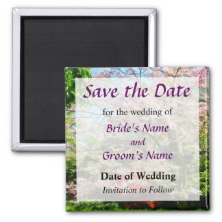 Pink Flowering Dogwood Save the Date Magnet