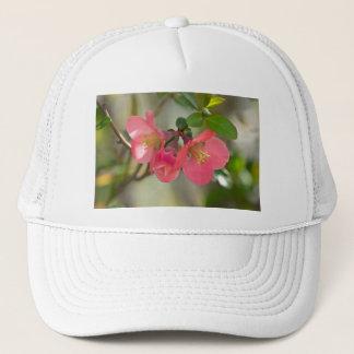 Pink Flowering Quince Glow Trucker Hat