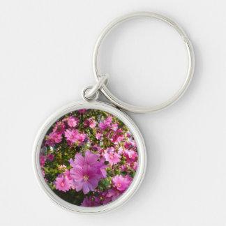 Pink Flowering Tree Keychain