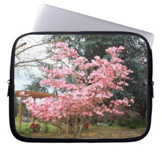 Pink Flowering Tree Laptop Sleeve