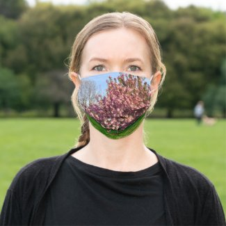 Pink Flowering Trees Cloth Face Mask