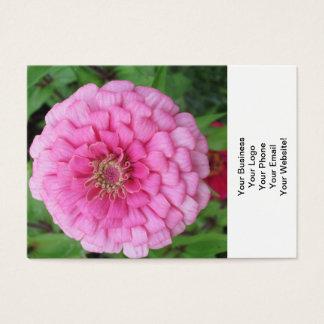 Pink Flowering Zinnia Business Card