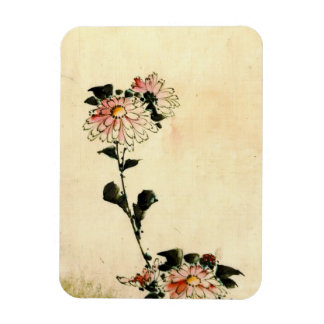Pink Flowers 1840 Magnet