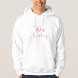 Pink Flowers 1st Time Mommy tshirts and Gifts