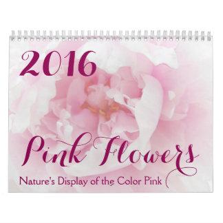 Pink Flowers 2016 Calendar