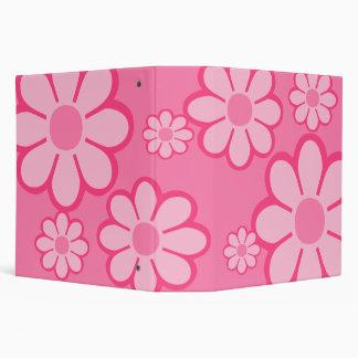 """Pink Flowers 2"""" Binder"""